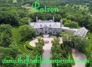 "A beautiful mansion on a large lavish estate, image for the short story 'Patron"" by Rico Lamoureux of The Flash Fiction Ponder."