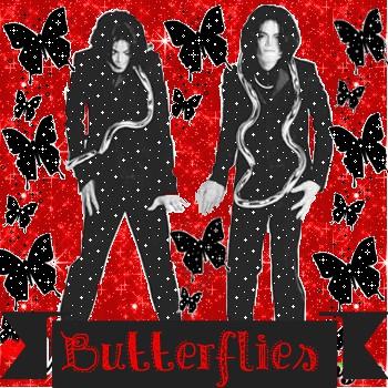 Michael Jackson among butterflies.