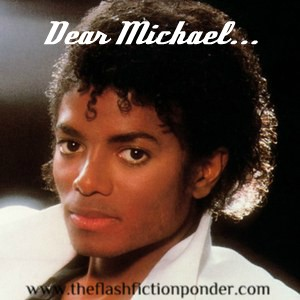 Michael Jackson on the cover of his greatest selling album.