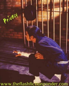 Michael Jackson crouched in a cage, tired of being a spectacle to the world in this music video script.