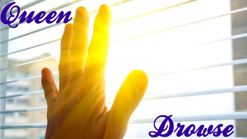 Bright sun coming through bedroom window, image for Drowse by Queen.