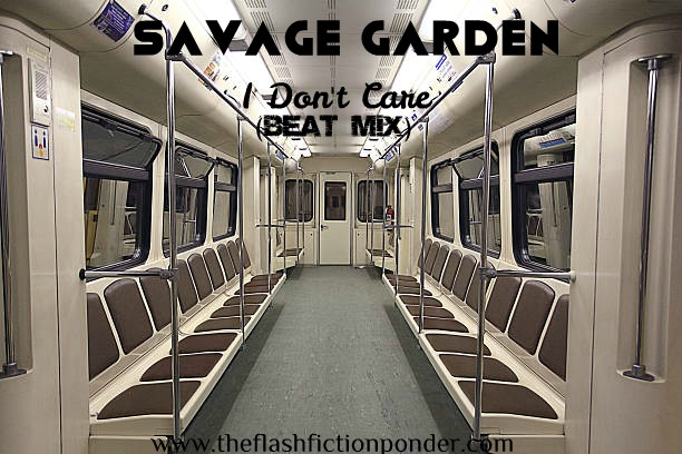 Inside an empty light rail train at night, for I Don't Care Beat Mix by Savage Garden