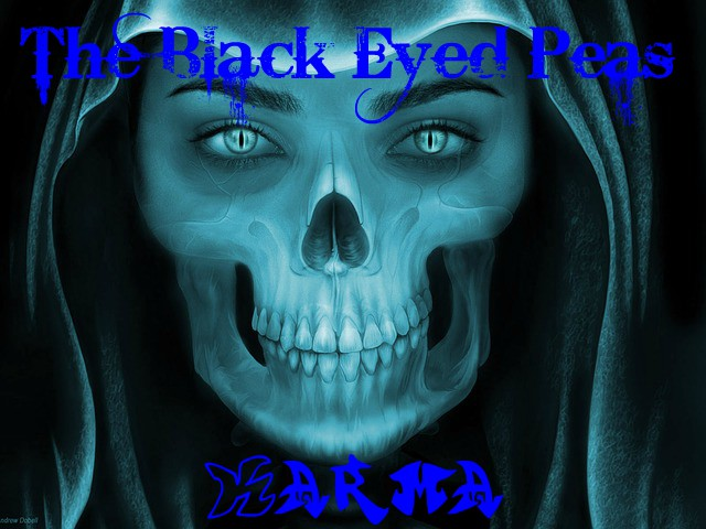 Hooded skull, for The Black Eyed Peas Karma, script by Rico Lamoureux of The Flash Fiction Ponder.
