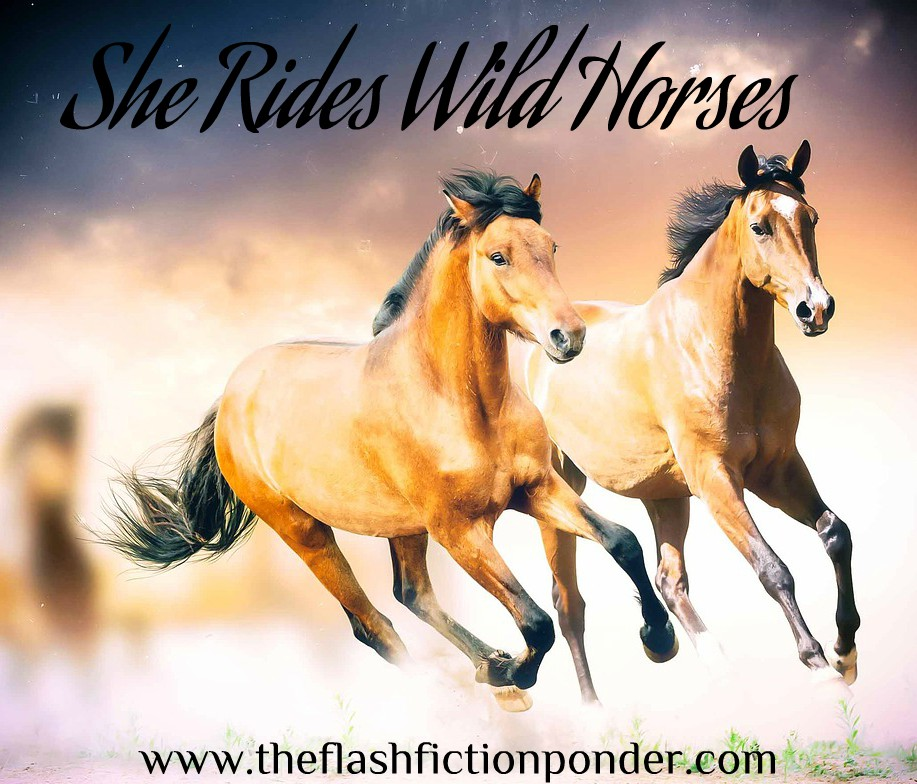 Wild horses running through a dream, for kenny Rogers song.