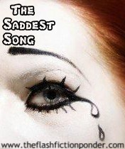 Crying clown eye, image for The Saddest Song by Annie Lennox, music video script by Rico Lamoureux of The Flash Fiction Ponder.