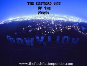 The (after) Life of the Party by Fall Out Boy, music video script by Rico Lamoureux of The Flash Fiction Ponder. View from behind the Hollywood sign at night.