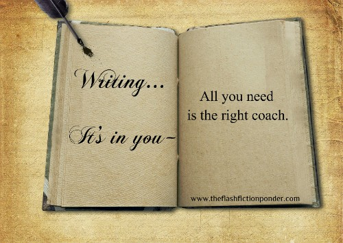 Open book with blank pages and quill, image from creative writing tutor Rico Lamoureux of The Flash Fiction Ponder.