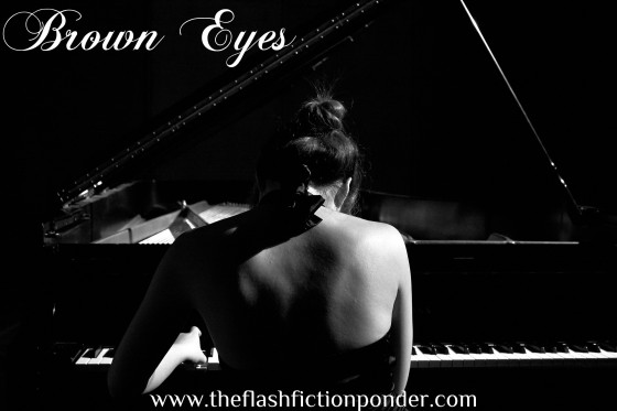 Image for Brown Eyes, song by Lady Gaga, music video concept and script by Rico Lamoureux of The Flash Fiction Ponder.