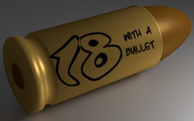 9mm bullet, image for the short story 18 with a Bullet.