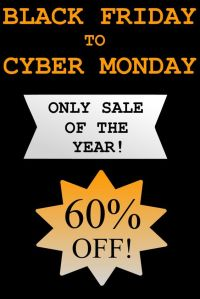 The Versatile Storyteller online writing course/boot camp. Only sale of the year, 60% off, for Black Friday to Cyber Monday.