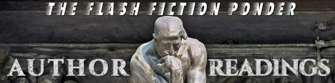 Image of The Thinker, for The Flash Fiction Ponder's Author Readings.