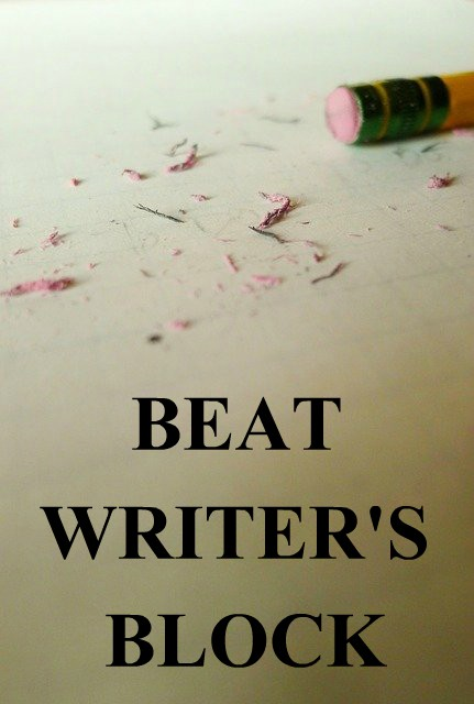Pencil eraser with eraser shavings. Beat Writer's Block with The Versatile Storyteller Boot Camp.