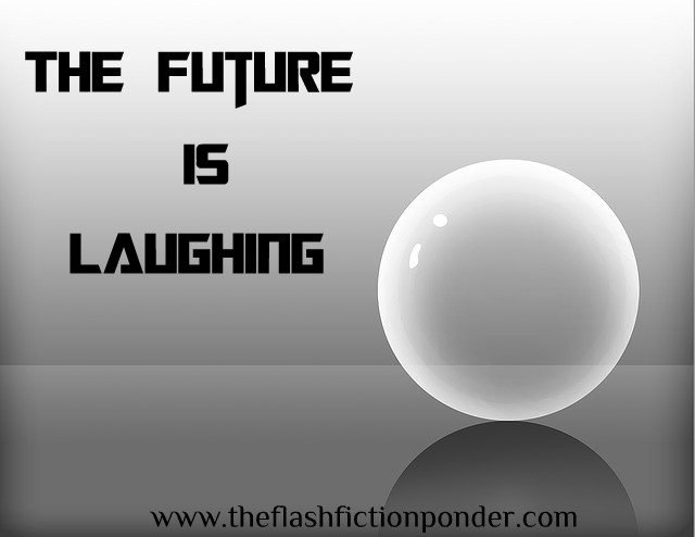 Future ball, image for 'The Future is Laughing, poem by The Flash Fiction Ponder.