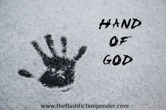 Hand print, image for 'Hand of God', song by Fall Out Boy, music video script by The Flash Fiction Ponder.