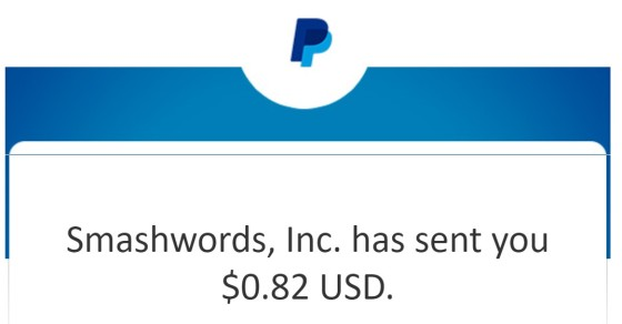 Earnings statement of indie author.