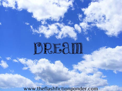 Blue sky, white clouds, image for music video script 'Dream', song by Callalily, screenplay by The Flash Fiction Ponder.