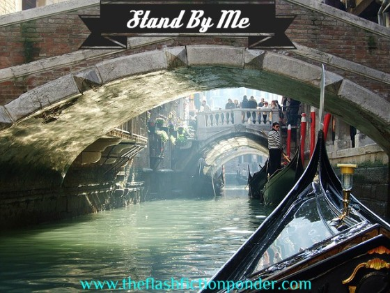 Gondola in Venice Italy, image for 'Stand By Me', song by Annie Lennox, music video script by The Flash Fiction Ponder.