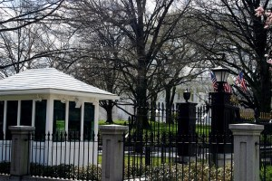 Guard shack at the White House, image for the short story 'The Message' by The Flash Fiction Ponder.
