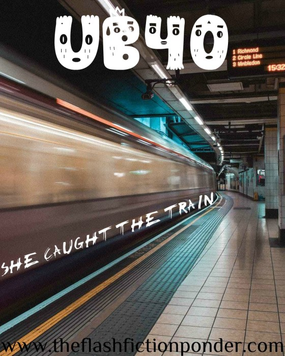 Subway train, image for UB40 'She Caught The Train', music video written by The Flash Fiction Ponder.