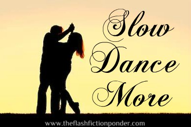 Couple slow dancing, image for music video script Slow Dance More, song by Kenny Rogers, script by The Flash Fiction Ponder.