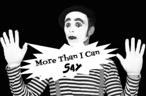 Mime, image for the music video 'More Than I Can Say', song by The Black Ghosts, script by The Flash Fiction Ponder.