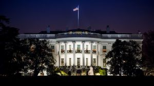 White House at night, image for the short story 'The Message' by The Flash Fiction Ponder.