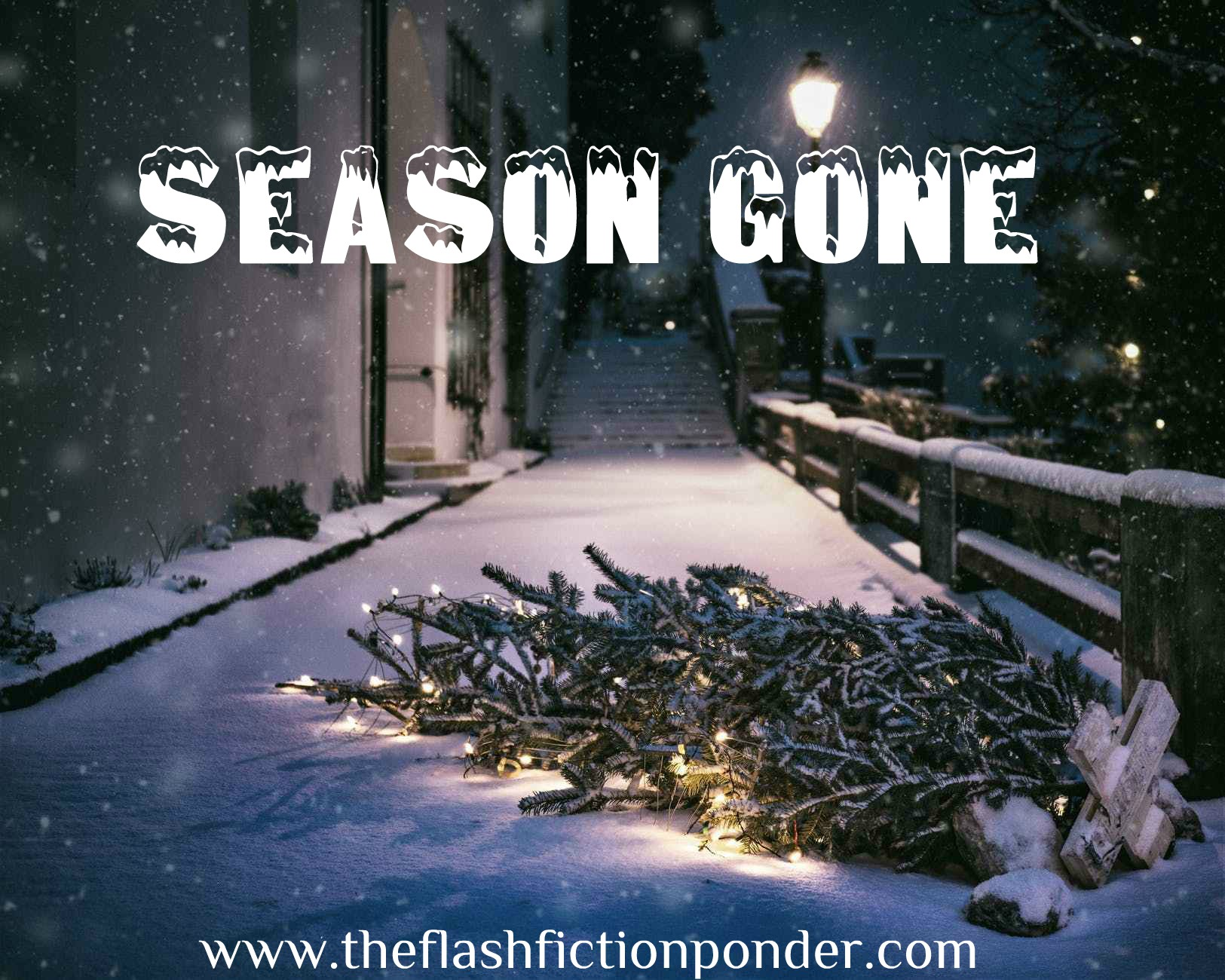 Dead Christmas tree, image for the short story 'Season Gone' by The Flash Fiction Ponder.