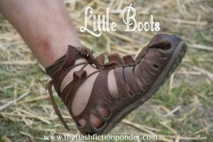 Little Boy's foor in Roman boot, for Caligula short story.