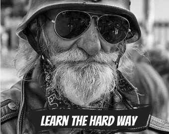 Old man biker, for Nickelback's 'Learn The Hard Way, music video script by The Flash Fiction Ponder.